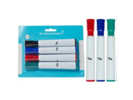 72 Units of Dry Erase Markers, Chisel Tip, Black/red/blue/green (4pk) - Dry Erase