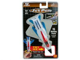72 Units of White Pull Back Jet Pen - Pens