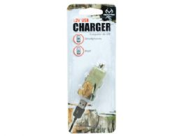 72 Units of Realtree Camouflage Mini Usb Charger - Chargers & Adapters