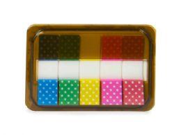 144 Units of Mini Sticky Page Markers, Polka Dots - Sticky Note & Notepads