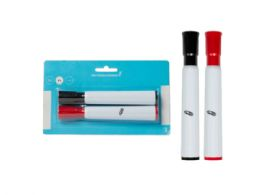 144 Units of Dry Erase Markers, Chisel Tip, Black/Red (2Pk) - Dry Erase