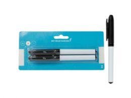 144 Units of Dry Erase Markers, Fine Point Tip, Black (2Pk) - Dry Erase