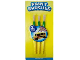 108 Units of 3 Pack 7 Paint Brushes - Paint, Brushes & Finger Paint