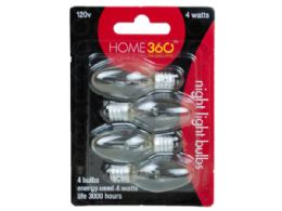 72 Units of 4 Pack Night Light 4 Watt Clear Bulbs - Lightbulbs