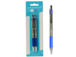 72 Units of Retractable Classic Ballpoint Pens, Blue (2pk) - Ballpoint Pens