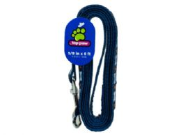 54 Units of Large Adjustable Blue Bone Print Pet Leash - Pet Accessories