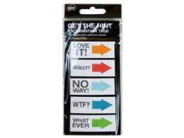 144 Units of Get The Hint Exclamation Sticky Note Tags - Note Books & Writing Pads