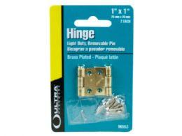72 Units of 1x1 Brass Plated Hinge - Hooks