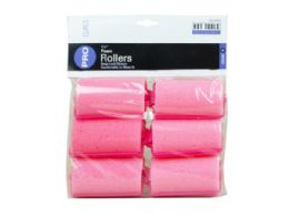 72 Units of 6 Count 1 1/2 Foam Rollers - Hair Accessories