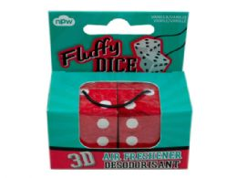 144 Units of 3d Fuzzy Dice Auto Air Freshener - Air Fresheners