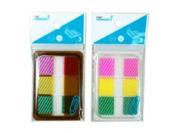 144 Units of Sticky Page Markers, Striped - Sticky Note & Notepads