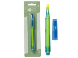 144 Units of Eco Highlighter, Chisel Tip, Yellow - Pens