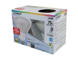36 Units of Ecobulb 2 Pack Daylight 75 Watt Equivalent Cfl Reflector Lig - Lightbulbs