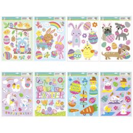 96 Units of Window Clings Easter - Easter