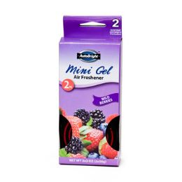 24 Units of Air Freshener 2 Pack Wild Berries Mini Gel Boxed Auto Bright - Auto Cleaning Supplies