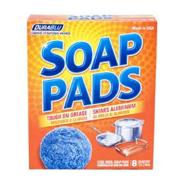 24 Units of Soap Pads Dura Blue Box Steel Wool - Auto Cleaning Supplies