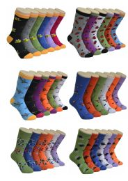 360 Units of Women's Mix Insects Printed Crew Socks - Womens Crew Sock