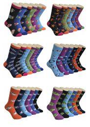 360 Units of Women's Mix Ocean Lives Printed Crew Socks - Womens Crew Sock