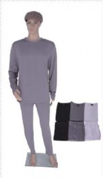 60 Units of Men's Thermal Set Top And Bottom Assorted Colors - Mens Thermals