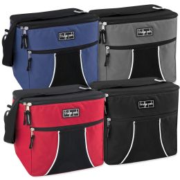 24 Units of Fridge Pak 24 Can Cooler Bag - Assorted Colors - Cooler & Lunch Bags