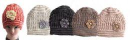 24 Units of Women's Heavy Knit Beanie Hat - Fashion Winter Hats