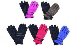 36 Units of Kids Winter Ski Gloves Assorted Colors - Kids Winter Gloves