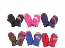 36 Units of Childrens Snow And Ski Mittens - Kids Winter Gloves
