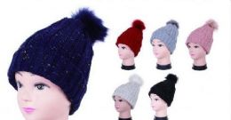 36 Units of Women Cable Knit Beanie Thick Soft And Warm Chunky Beanie Hats - Winter Beanie Hats