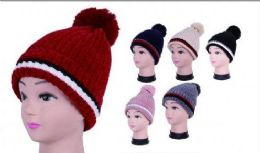 36 Units of Women Winter Trendy Warm Oversized Chunky Stretchy Skully Beanie Hat - Winter Beanie Hats