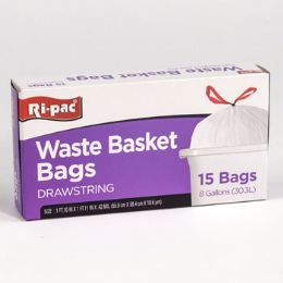 24 Units of Trash Bags 15 Count 8 Gallon - Garbage & Storage Bags