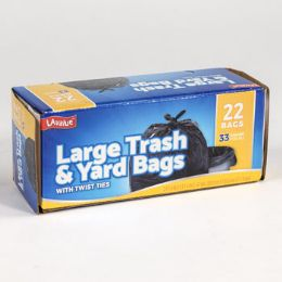 12 Units of Trash Bags 22 Count 33 Gallon - Garbage & Storage Bags