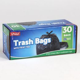 12 Units of Trash Bags 30 Count 26 Gallon - Garbage & Storage Bags