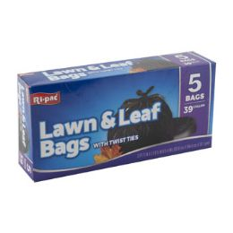 24 Units of Trash Bags 5 Count 39 Gallon - Garbage & Storage Bags