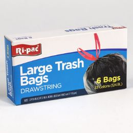 24 Units of Trash Bags 6 Count 33 Gallon - Garbage & Storage Bags