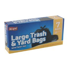 24 Units of Trash Bags 7 Count 33 Gallon - Garbage & Storage Bags