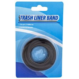 48 Units of Trash Liner Band Fits Up To 33 Gallon Can - Garbage & Storage Bags