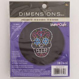 72 Units of Craft Kit Cross Stitch Wood Hoop Sweet Sugar Skull - Craft Kits