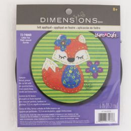 72 Units of Craft Kit Cross Stitch Wood Hoop Little Fox - Craft Kits