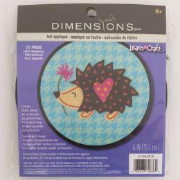 72 Units of Craft Kit Cross Stitch Wood Hoop Little Hedgehog - Craft Kits