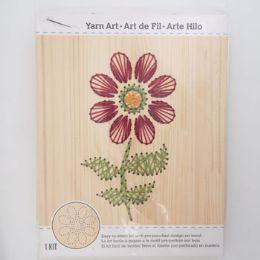 12 Units of Craft Kit Flower Stitch Art Wood Wall Decor - Craft Kits