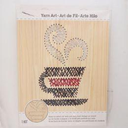 12 Units of Craft Kit Java Stitch Art Wood Wall Decor - Craft Kits