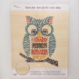12 Units of Craft Kit Owl Stitch Art Wood Wall Decor - Craft Kits