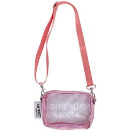 48 Units of Bag Stadium Pvc Cutie With A Bootie Pink - Wallets & Handbags