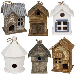 6 Units of Bird House Wood - Garden Decor