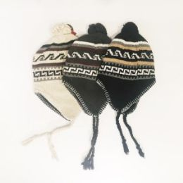 24 Units of Men's Fair Isle Peruvian Helmet - Winter Hats