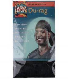 60 Units of Sable Beauty DU-Rag Black - Head Wraps