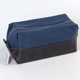 100 Units of Cotton Canvas Pv Leather Best Man Bag - Bath And Body