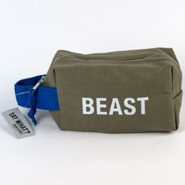 99 Units of Cotton Canvas Beast Green Bag - Bath And Body