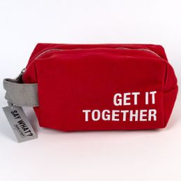 99 Units of Cotton Canvas Get It Together Red Dopp Bag - Bath And Body