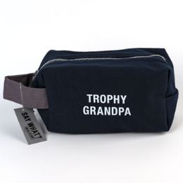 99 Units of Cotton Canvas Trophy Grandpa Dopp Bag - Bath And Body
